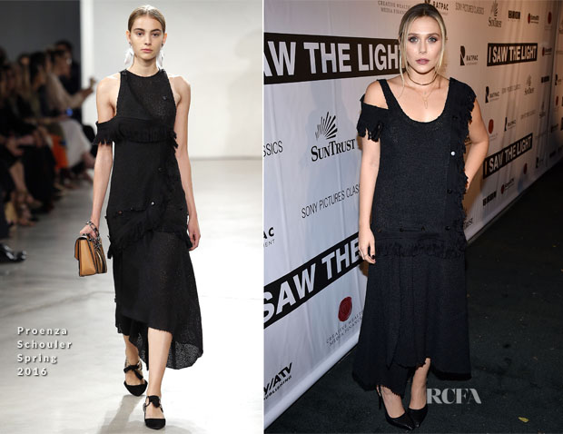 Elizabeth Olsen In Proenza Schouler - 'I Saw The Light' Nashville Premiere