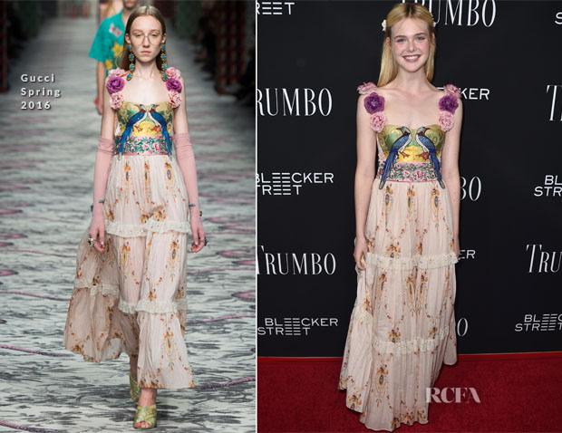 Elle Fanning In Gucci -  'Trumbo' LA Premiere