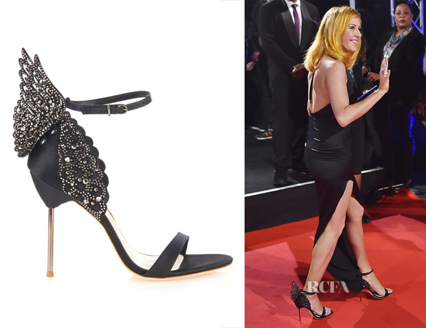 Ellie Goulding's Sophia Webster Evangeline Angel-Wing Satin Sandals