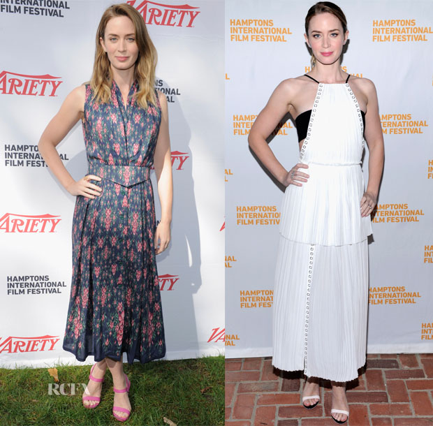 Emily Blunt In Ulyana Sergeenko & J Mendel - 23rd Annual Hamptons International Film Festival