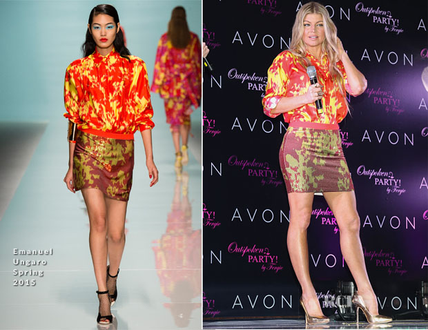 Fergie In Emanuel Ungaro - Outspoken Party By Fergie Launch Party
