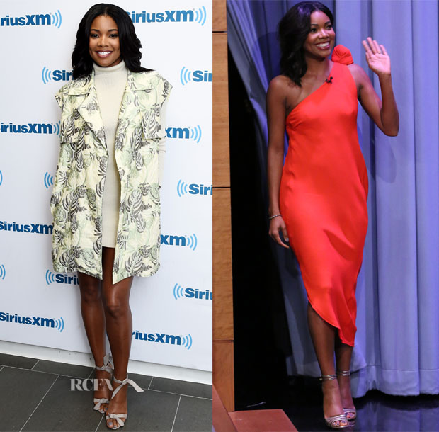 Gabrielle Union In Baja East & Vika Gazinskaya - SiriusXM Studios & The Tonight Show Starring Jimmy Fallon