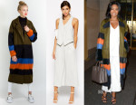 Gabrielle Union's Suno Striped Oversized Menswear-Inspired Coat & ASOS Tailored Culottes