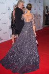 Sarah Jessica Parker in Zuhair Murad Couture with Chanel bag