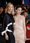 Cate Blanchett in Esteban Cortazar and Rooney Mara in Alexander McQueen