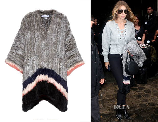 Gigi Hadid's Elizabeth and James Astor Poncho