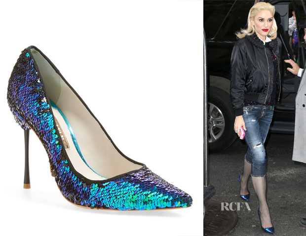 Gwen Stefani's Sophia Webster Coco  Iridescent Sequin Pumps