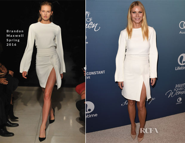 Gwyneth Paltrow In Brandon Maxwell - Variety's Power Of Women Luncheon