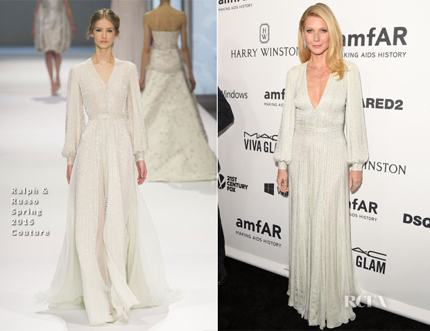Gwyneth Paltrow In Ralph & Russo Couture - amfAR's Inspiration Gala Los Angeles