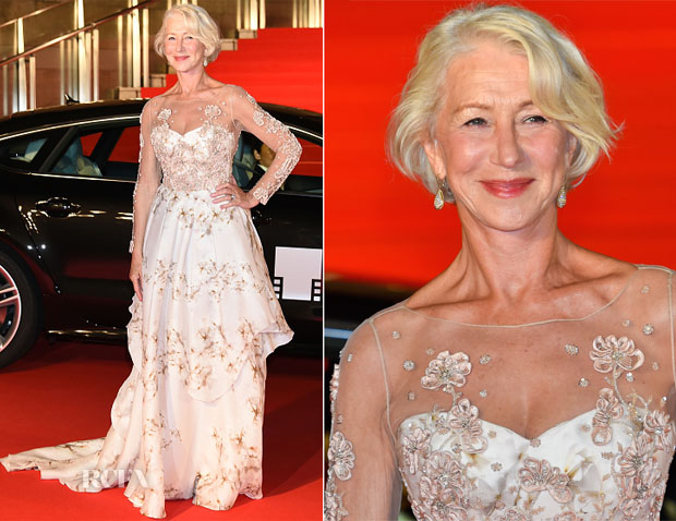 Helen Mirren In Badgley Mischka - Tokyo International Film Festival 2015 Opening Ceremony