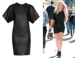 Hilary Duff's  Étoile Isabel Marant Jade faux-leather mini dress