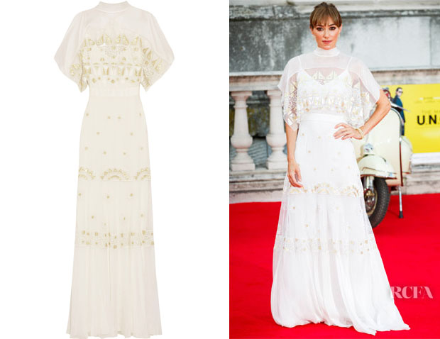 Jacqui Ainsley's Temperley London Sura embroidered tulle and silk-blend chiffon gown