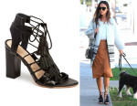 Jamie Chung's Loeffler Randall Luz Lace-Up Sandals