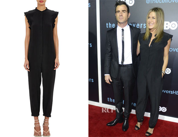 Jennifer Aniston's Stella McCartney Ruffled Trim Jumpsuit