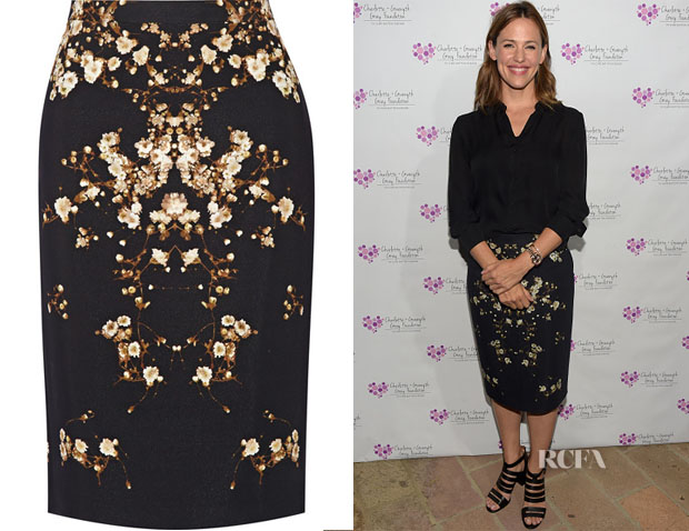 Jennifer Garner's Givenchy Baby's Breath-Print Skirt