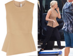 Jennifer Lawrence's Alexander Wang Neoprene-Piqué Top
