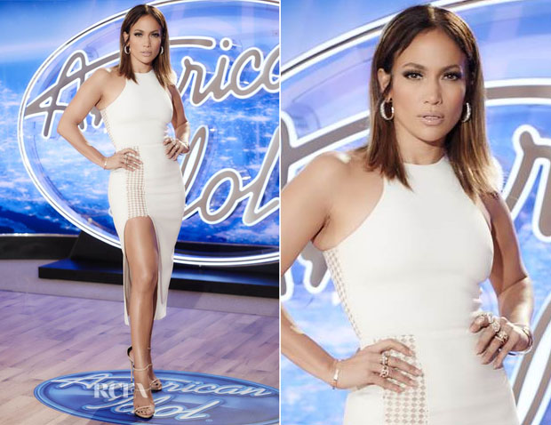 Jennifer Lopez In David Koma - American Idol San Francisco Auditions