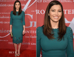 Jessica Biel In Dolce & Gabbana - 2015 Fashion Group International Night Of Stars Gala