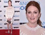 Julianne Moore In Valentino - 'Freeheld' New York Screening