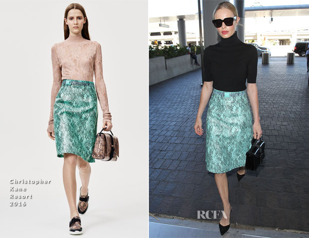 Kate Bosworth In Christopher Kane - LAX