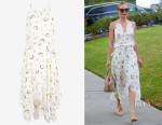 Kate Bosworth's A.L.C. Topper Belted Printed Midi Dress