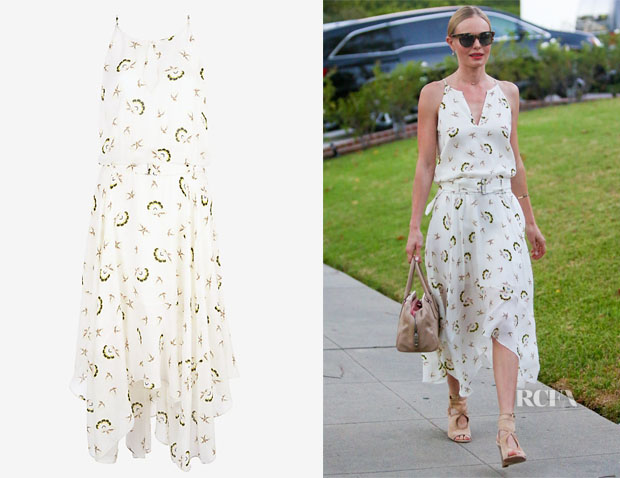 Kate Bosworth's ALC Topper Belted Printed Midi Dress