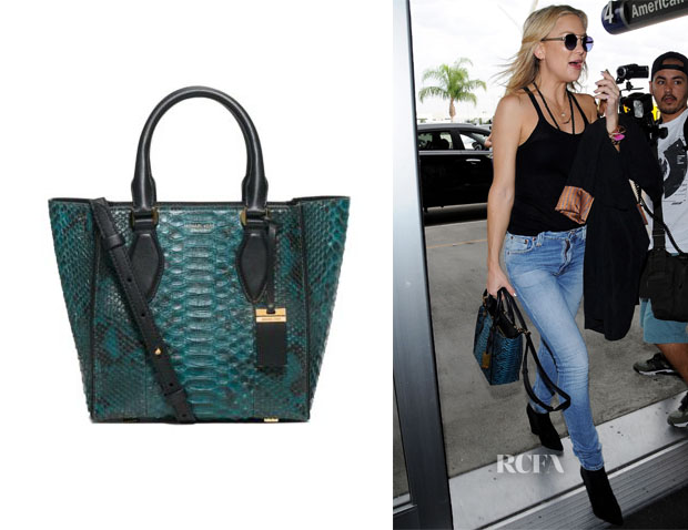 Kate Hudson's Michael Kors Gracie Small Python Tote
