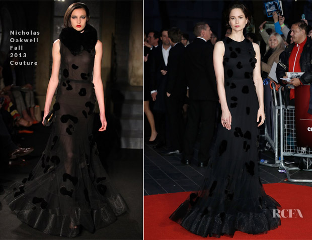Katherine Waterston In Nicholas Oakwell F13 Couture - 'Steve Jobs' London Film Festival Closing Night Screening