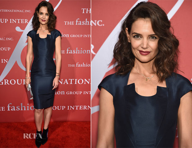 Katie Holmes In Zac Posen - 2015 Fashion Group International Night Of Stars Gala