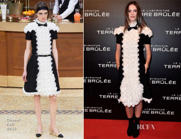 Kaya Scodelario In Chanel -  'Maze Runner The Scorch Trials' Paris Premiere