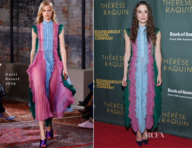 Keira Knightley In Gucci - 'Therese Raquin' Broadway Opening Night