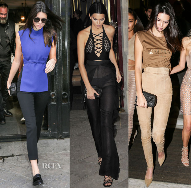 Kendall Jenner's Paris Fashion Week Style