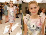 Kiernan Shipka In Giamba - CFDA/Vogue Fashion Fund Show