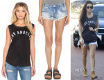 Kourtney Kardashian's Tyler Jacobs Shiloh Pretty La Tank & One Teaspoon Trashwhore Shorts in Hustler