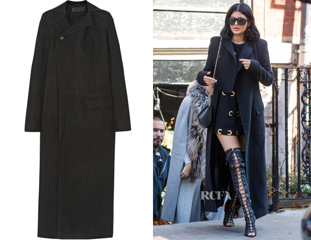 Kylie Jenner's Haider Ackermann Wool-blend coat