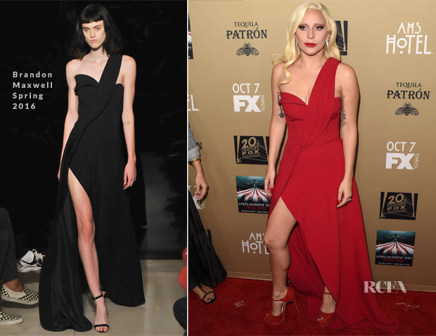 Lady Gaga In Brandon Maxwell - 'American Horror Story Hotel' LA Premiere