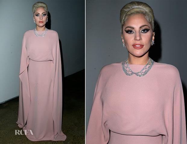 Lady Gaga In Valentino - amfAR's Inspiration Gala Los Angeles