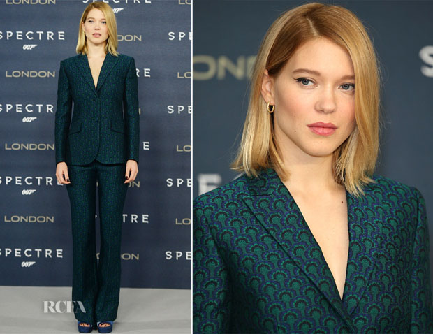 Lea Seydoux In Miu Miu - 'Spectre' London Photocall