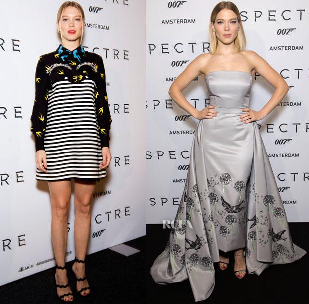Lea Seydoux In Miu Miu - 'Spectre' Amsterdam Photocall & Premiere2