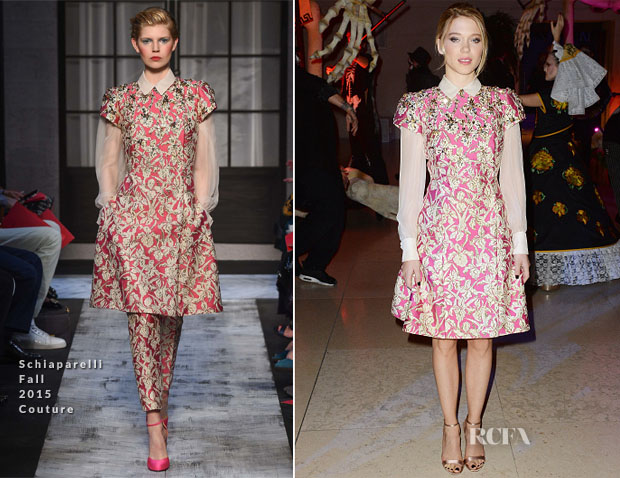 Lea Seydoux In Schiaparelli Couture - 'Spectre' London Premiere After-Party