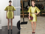Lily Collins In Caterina Gatta - CFDA/Vogue Fashion Fund Show