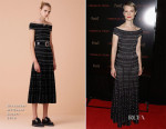 Mia Wasikowska In Alexander McQueen - 'Crimson Peak' New York Premiere