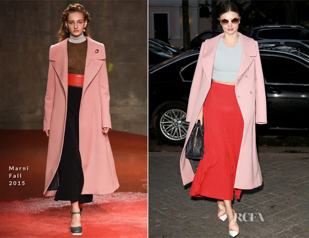 Miranda Kerr In Marni, Jonathan Simkhai & Vionnet - Out In Paris