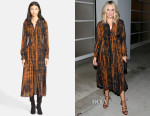 Molly Sims' A.L.C. 'Maxwell' Print Silk Dress