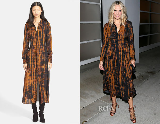 Molly Sims' ALC 'Maxwell' Print Silk Dress