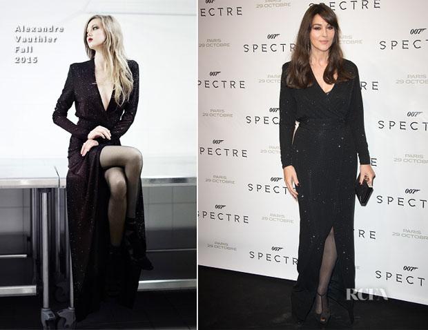 Monica Bellucci In Alexandre Vauthier -  'Spectre' Paris Premiere