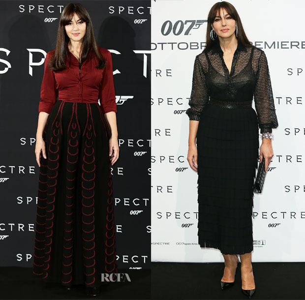 Monica Bellucci In Azzedine Alaïa and Dolce & Gabbana - 'Spectre' Rome & Madrid Photocalls & Premieres