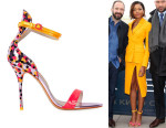 Naomie Harris' Sophia Webster Nicole Sketch Camo Leather Sandals