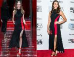 Nina Dobrev In Versace -  'Bridge Of Spies' New York Film Festival Premiere