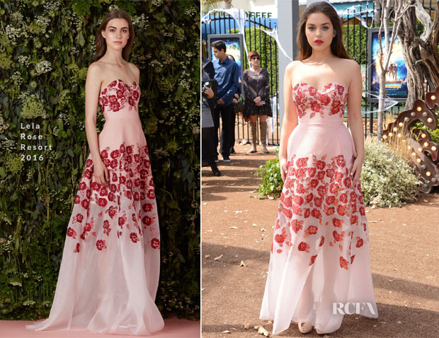 Odeya Rush In Lela Rose - 'Goosebumps' LA Premiere